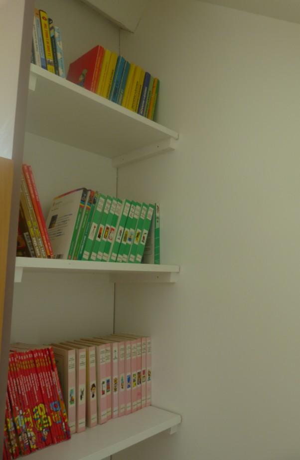 le coin bibliothèque pour les enfants
