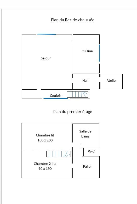 Plan rez de chaussee et premier etage